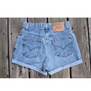 Vintage Levi's Red Tab Denim Shorts 7 W27